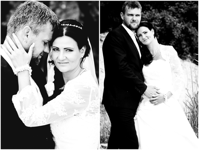 Hochzeitspaar steht verliebt zusammen - Hochzeitsfotografie in Altefähr - Hochzeitsfotograf_Ruegen_Stralsund