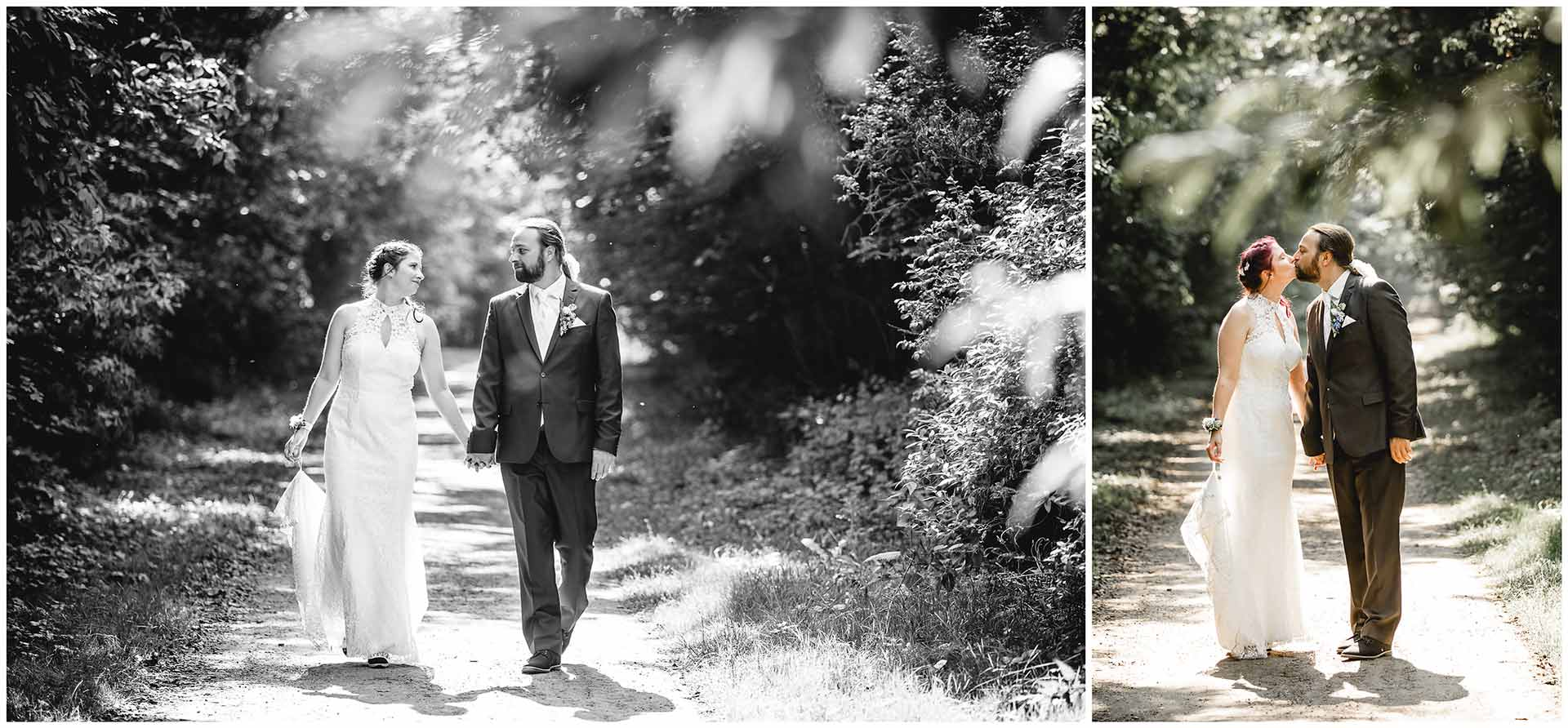 Foto1_Brautpaar-geht-Hand-in-Hand-spazieren_Foto 2_Brautpaar-kuesst-sich-Hochzeitsshooting-Hochzeit-am-Strand-Hochzeitsfotograf-Warnemuende-Hochzeitsfotograf-Rostock-Hochzeitsfotograf-Ostseebad-Warnemuende