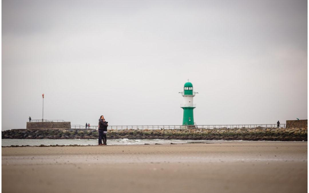Shooting am Strand – Probeshooting für den Hochzeitstag von Maria & Axel – Fotograf Warnemünde