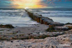 Produktbild - #stayhome - Sonnenuntergang - Ostseestrand - Fotograf Rostock - Landschaftsfotos zum Download