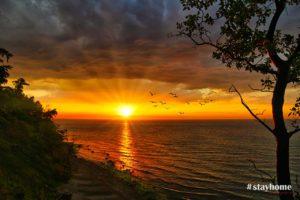 #stayhome - Sonnenuntergang Steilküste Warnemünde - Fotograf Rostock - Landschaftsfotos zum Download